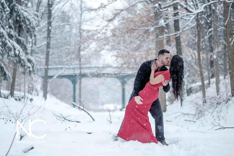 Snowy Engagement Shoot