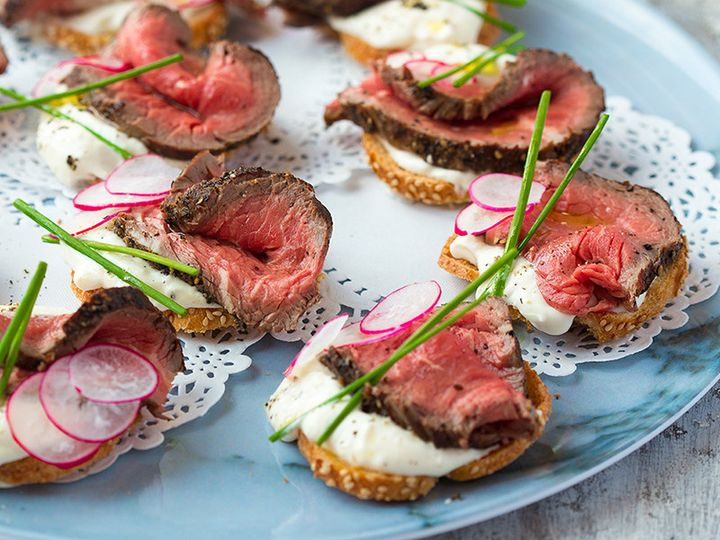 steak bites crostini san diego wedding catering