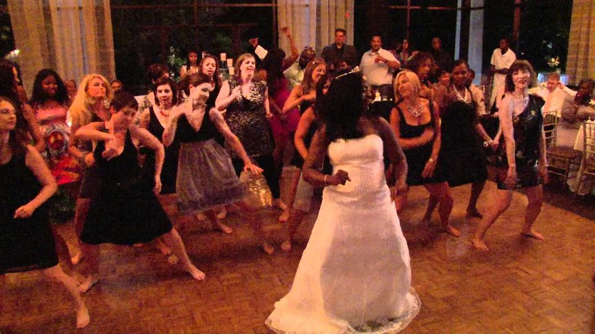 Group dance with the bride
