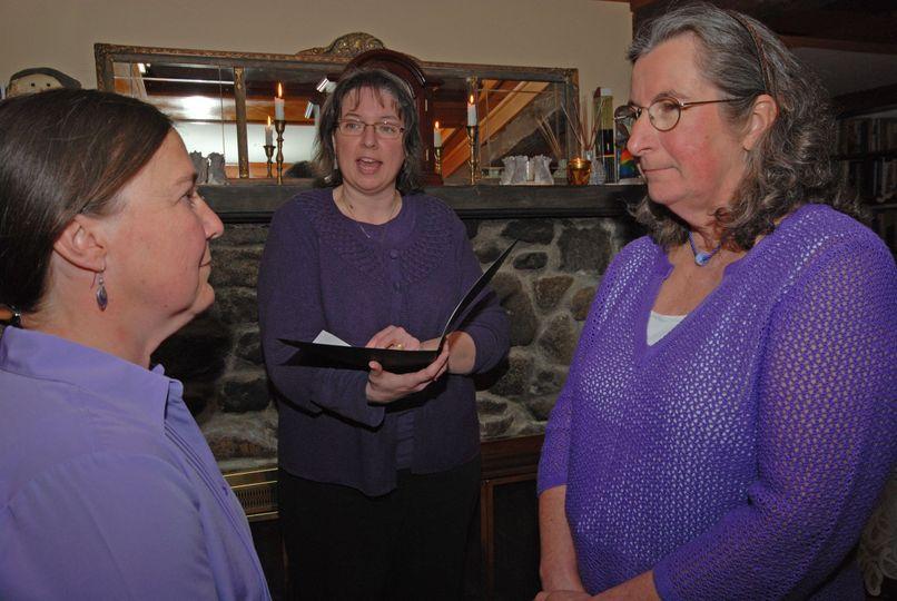 Same-sex wedding at the Highlands Inn