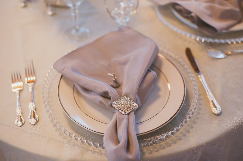 Table setting and napkin