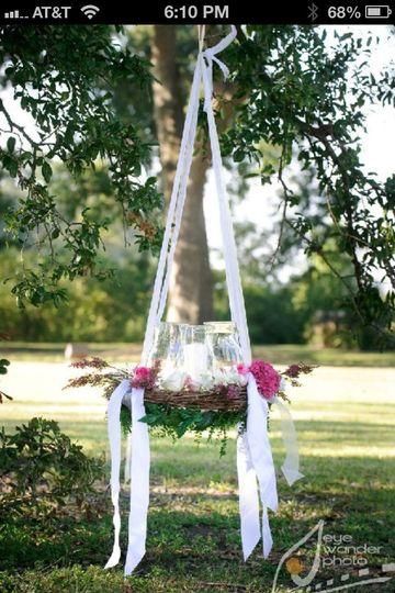 hanging unity candle