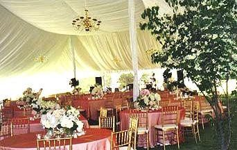 Pink round table setup