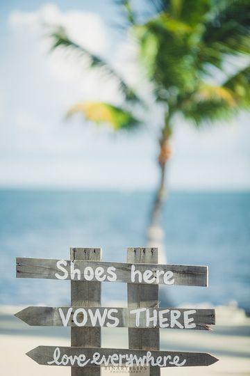 Wedding sign board