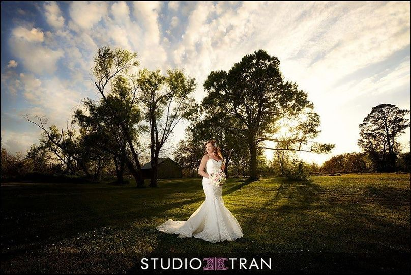 Bride surrounded by nature