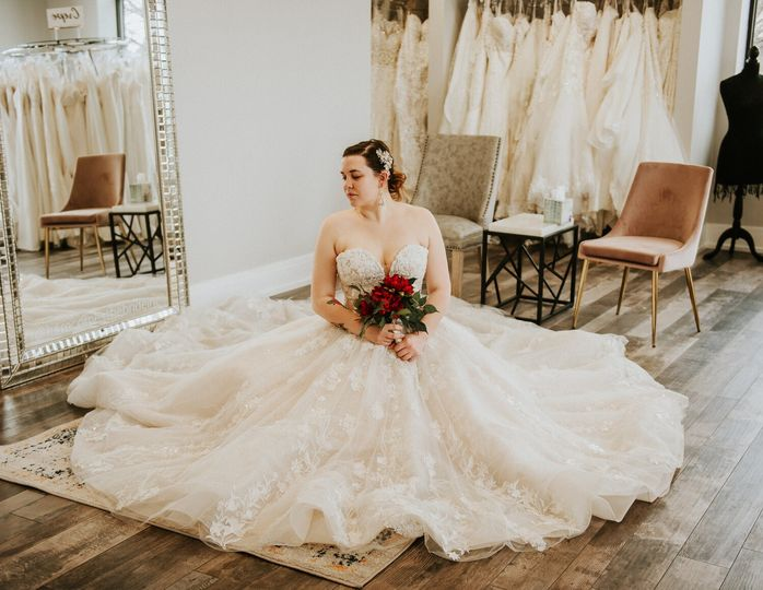 Admiring the dress
