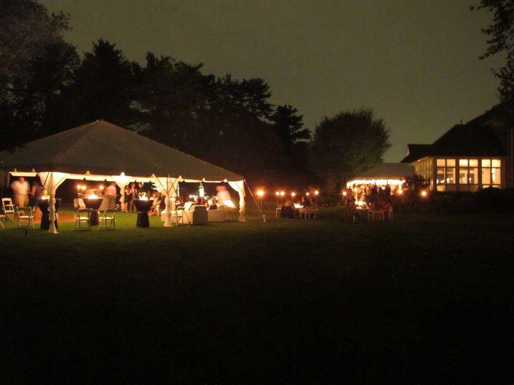 Evening reception lights