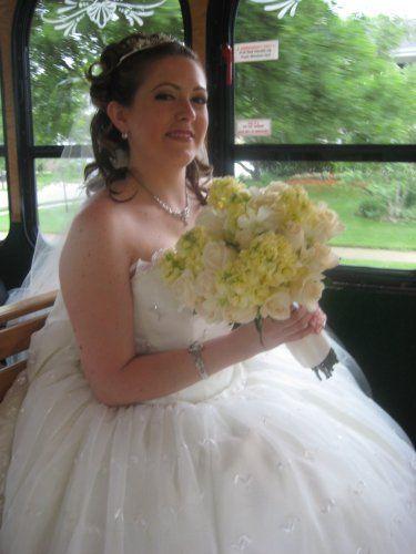 client's wedding gown