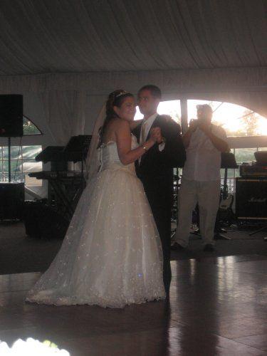 beautiful hand beaded organza wedding gown