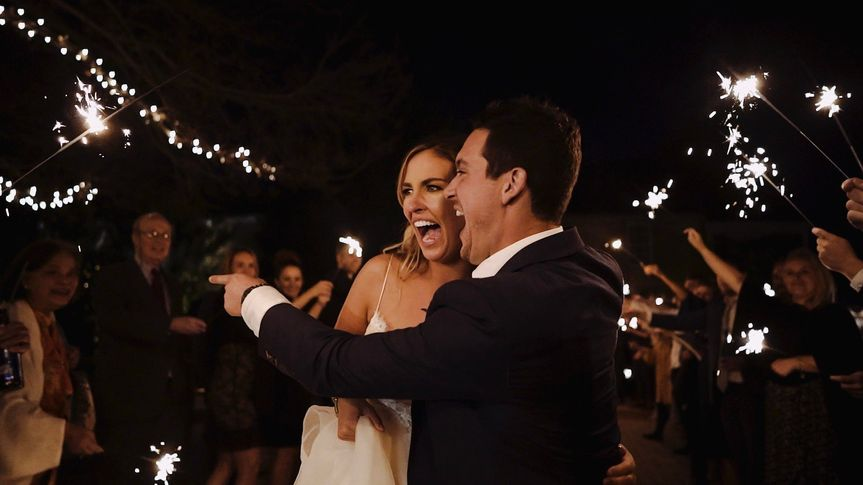 Sparkler exits are the best!