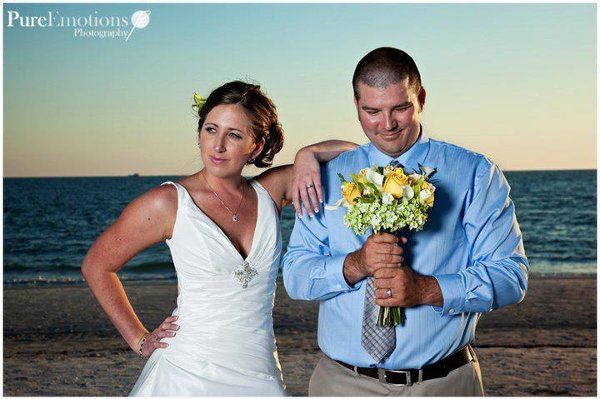 Beach newlyweds