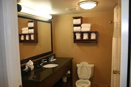 Newly renovated guest room bathrooms