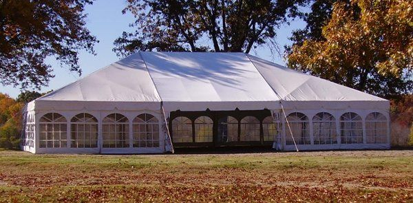 This photo is one of our 40x60 frame canopies with cathedral window side curtains.  We have frame...