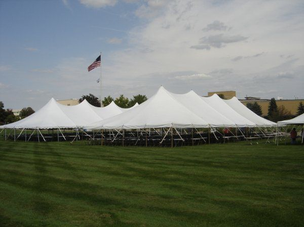 This is a set up of several large pole canopies.  We actually have pole canopies as large as 40x160...