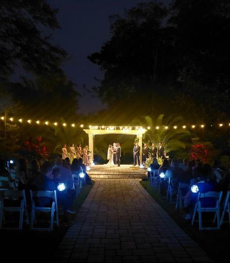 Romantic Evening Wedding