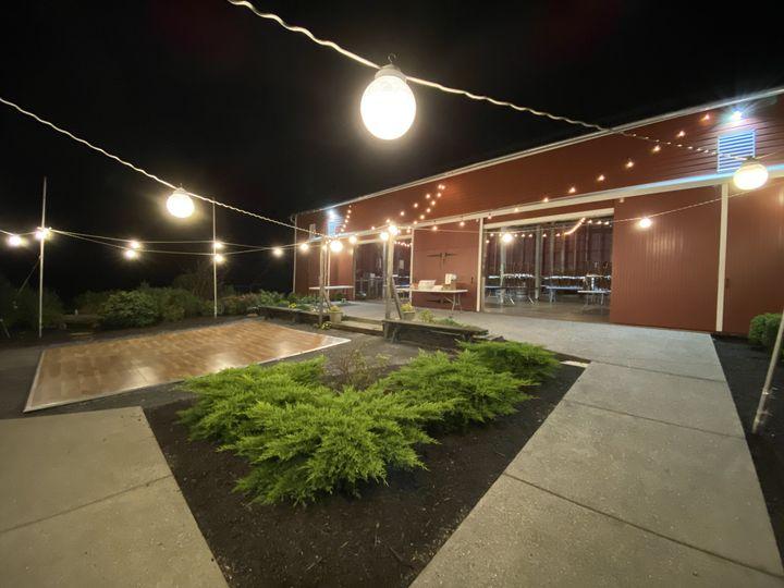 An outdoor dance floor
