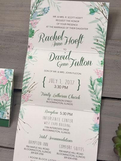 Tri-fold wedding invite