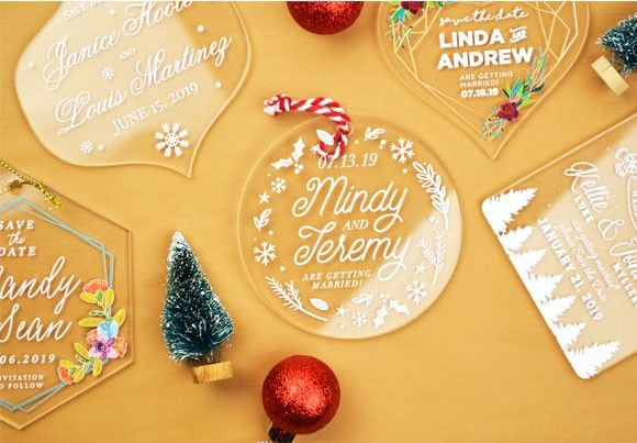 Save the date ornaments