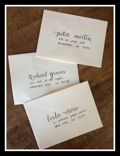 Addressed envelopes