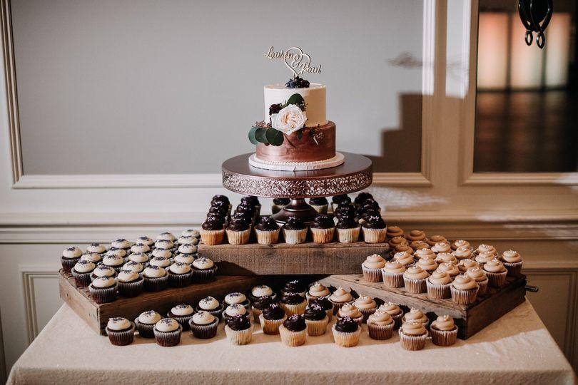 Cupcake and cake display