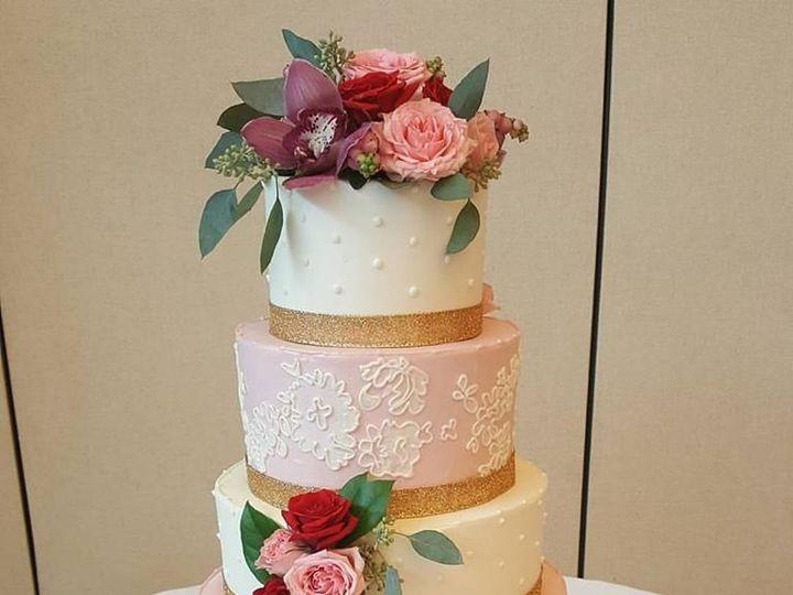 Tmx 1536803126 43da30d9171e7cf2 1536803126 4e3e8afa27d45bde 1536803125163 7 Pink Lace Phoenixville, Pennsylvania wedding cake