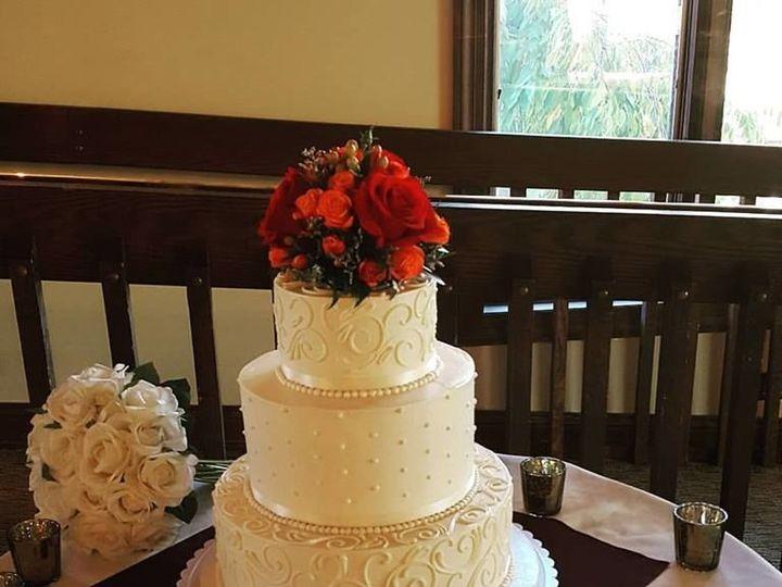 Tmx 1536803144 D6461c44bc9dec56 1536803143 400ea90743c8a914 1536803142630 10 White Scroll Phoenixville, Pennsylvania wedding cake