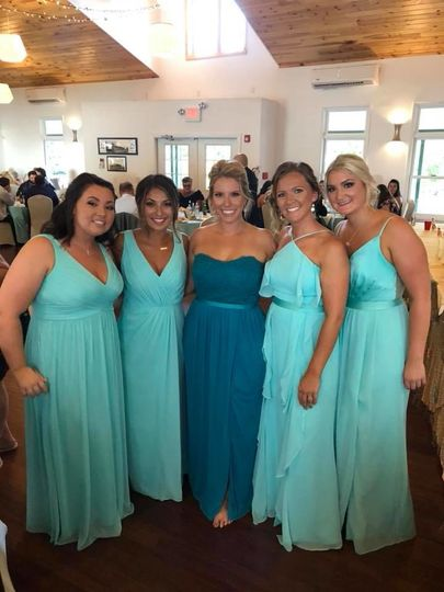 Individual Custom Blends for each Bridesmaids needs, skin tones and desired results