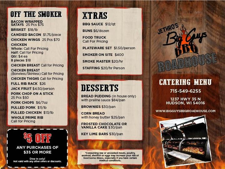 Tmx Catering Menu Off The Smoker 51 1015344 1569976454 Hudson, WI wedding catering