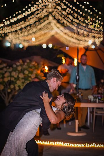 Dancing under the stars and twinkle lights. Renee Mellott Photography.