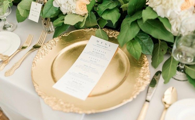 Flatware and Charger Plate