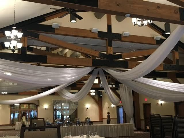 Tmx 1474333593973 Ceiling Drapings Pine 2 Selinsgrove, Pennsylvania wedding rental