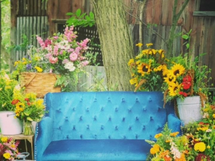 Tmx Seating Blue Loveseat 51 745344 1572524581 Selinsgrove, Pennsylvania wedding rental