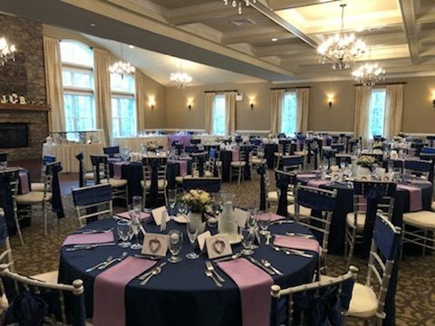Navy & Lilac was the perfect color combination for a spring wedding!