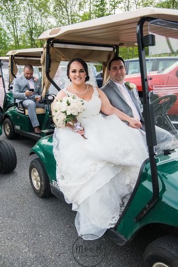 Golf cart photoshoot