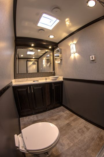Luxury Portable Restroom Trailer http://www.ltdpr.com/