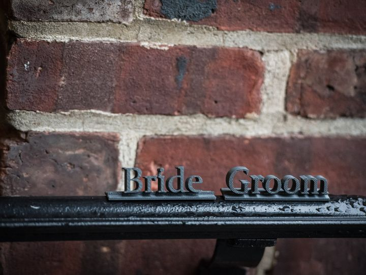 Tmx 1505264700509 Bride Groom 3d Escort Name Plate Wedding West Chester wedding favor