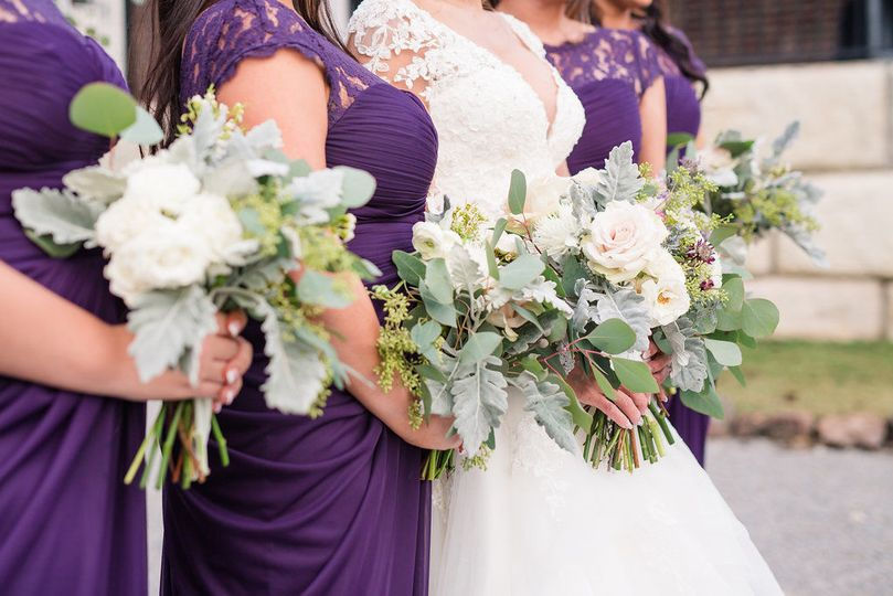 Bouquets for bride and bridesmaids