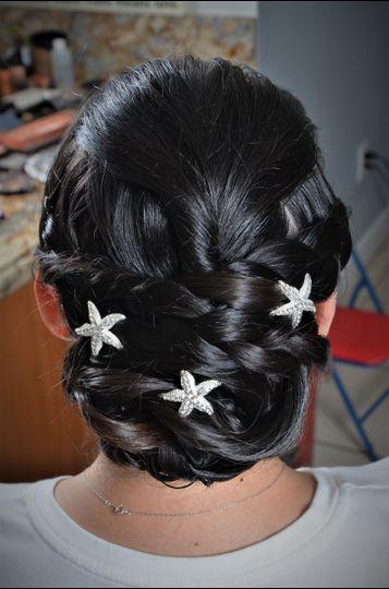 Stars on hair