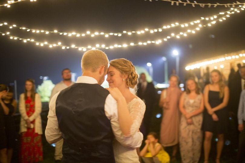Newlyweds dancing - Mike Burley Photography