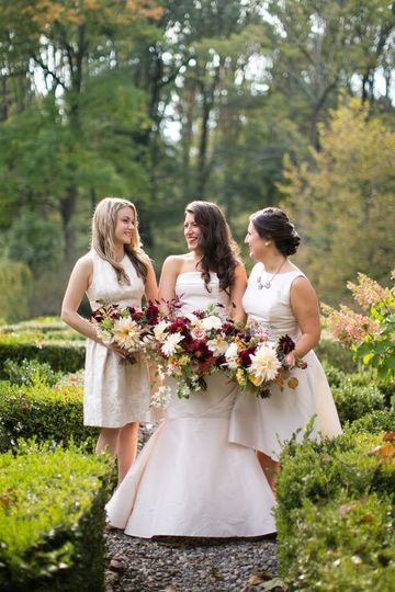 autumn bridal party