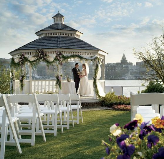 Couple at the gazebo