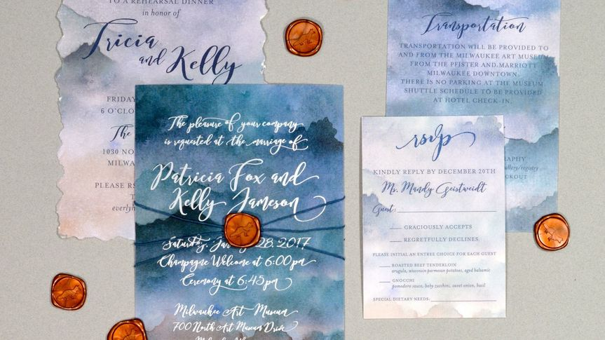 Watercolor with silver foil