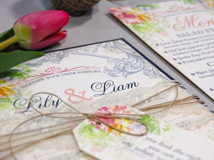 Tmx 1513691863560 Paperwhitesclassicfloral5 Wauwatosa, WI wedding invitation