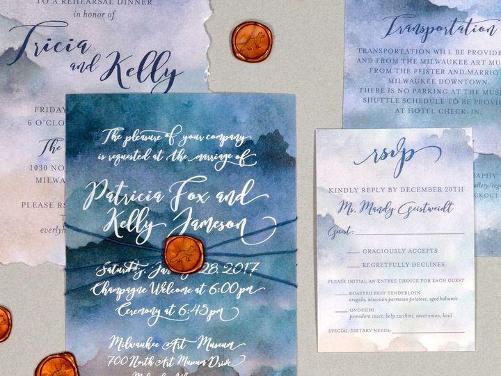 Tmx 1513691863747 Paperwhiteswatercolorsilverfoil1 Wauwatosa, WI wedding invitation