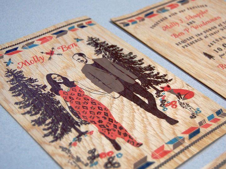 Tmx 1513691889313 Paperwhiteswoodprint1 Wauwatosa, WI wedding invitation
