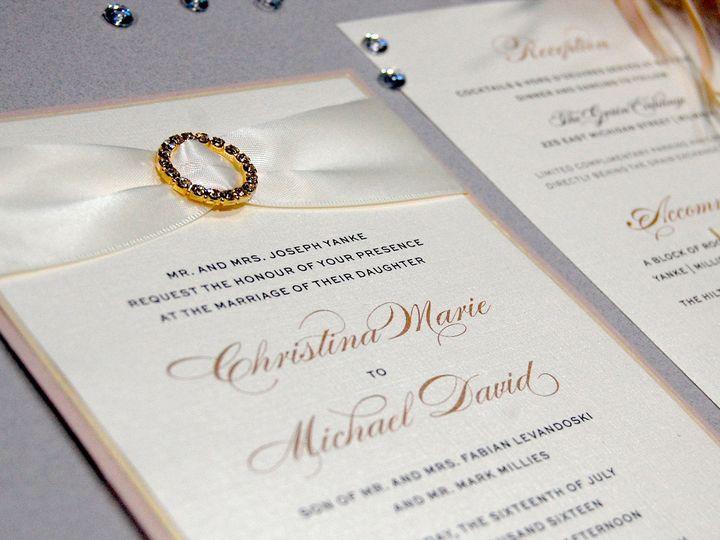 Tmx 1513691900937 Paperwhitesivoryandpeach3 Wauwatosa, WI wedding invitation