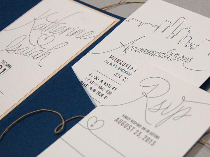 Tmx 1513692631685 Paperwhitesmilwaukeeskyline3 Wauwatosa, WI wedding invitation