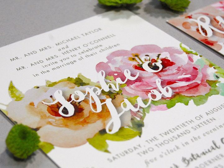 Tmx 1513693073529 Paperwhiteswatercolorfloral2 Wauwatosa, WI wedding invitation