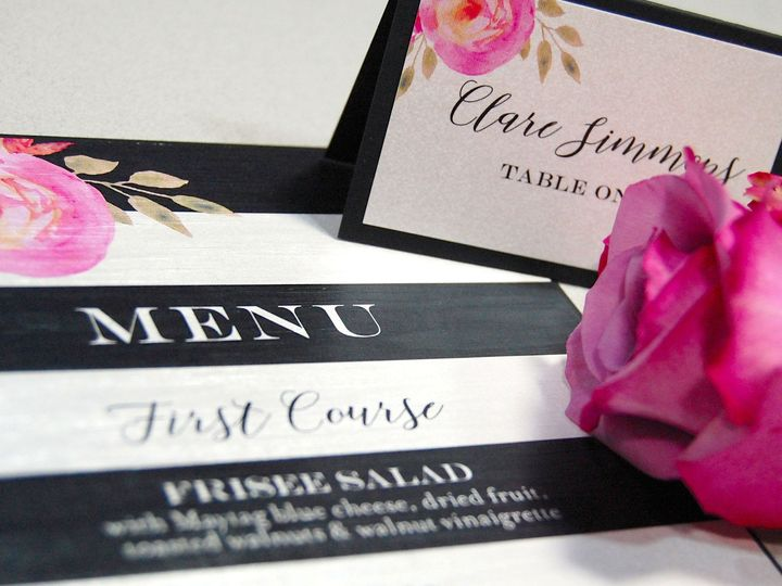 Tmx 1513693073545 Paperwhitesblackwhitestripe3 Wauwatosa, WI wedding invitation