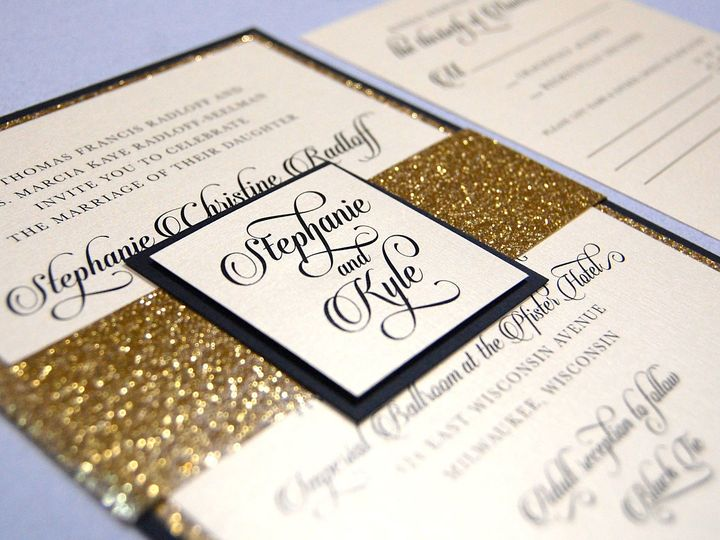 Tmx 1513693122105 Paperwhitesgoldsparkle2 Wauwatosa, WI wedding invitation